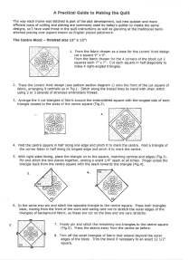 Instructions for making Maria's quilt 001