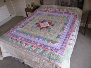 Pauline Leadley's finished quilt