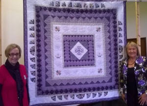 Judy and Liz with quilt