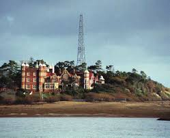Bawdsey Manor with mast